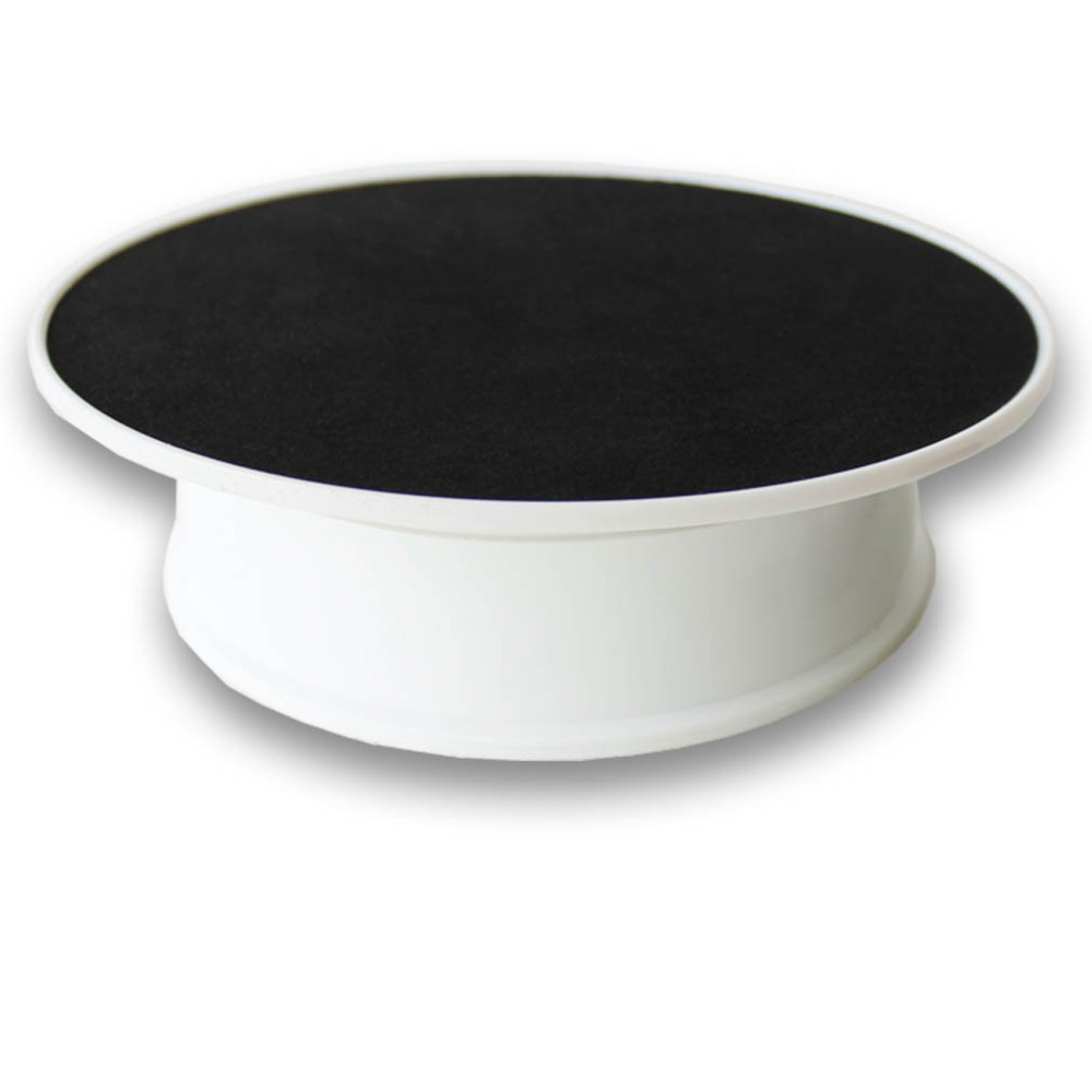 220V 20CM Black Velvet Top Rotary Display Stand Electric Rotating Display