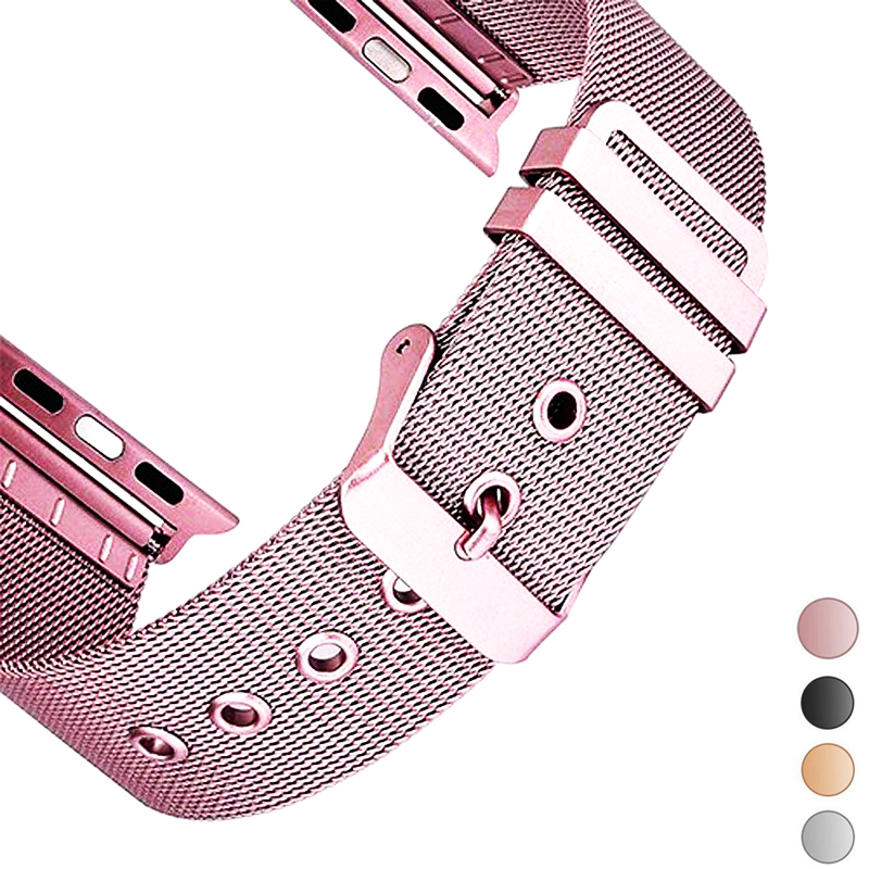 Stainless Steel Strap For Apple Watch Band 42mm 38mm Apple Watch Band 44mm 40mm Iwatch Bracelet 5/4/3/2/1 Milanese Loop Belt