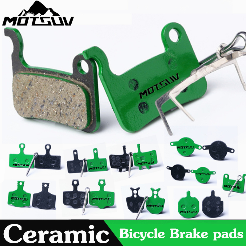 4 Pairs Bicycle Ceramics Disc Brake Pads for MTB Hydraulic Disc Brake SHIMAN0 SRAM AVID HAYES TEKTRO Magura Formula Bicycle Pads