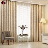 Leaves Jacquard Blinds Fabric Window Curtain Silver Gray Out Custom Size Shade Thermal Style For Bedroom