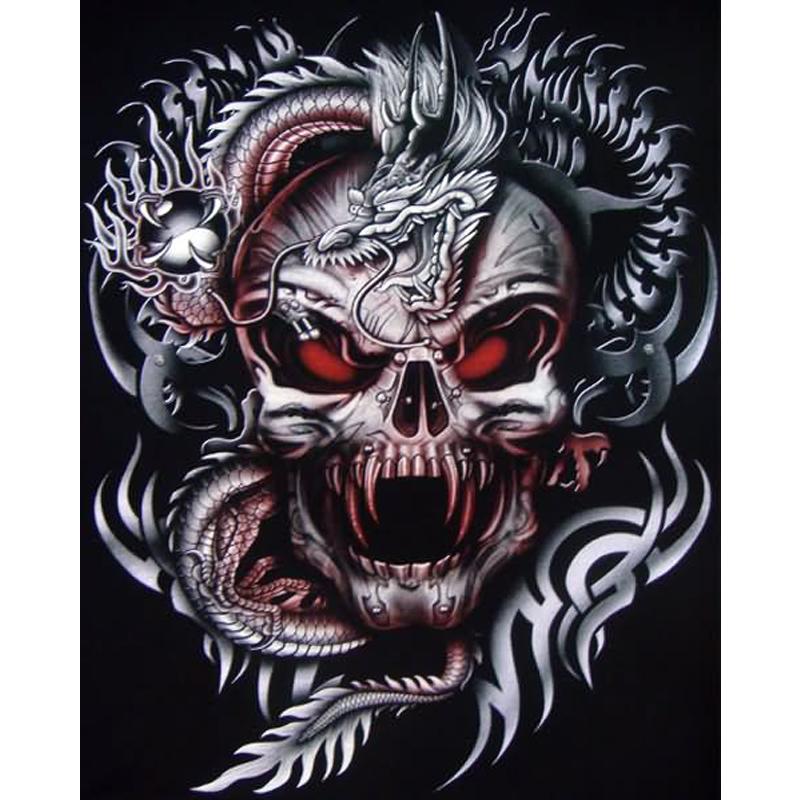 New 3D Diy Diamond Painting Head Skull Mosaic Embroidery Canvas
