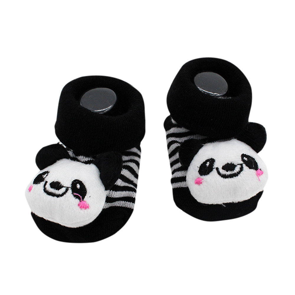 Cartoon Newborn Baby Girls Boys Anti-Slip Socks Slipper Shoes Boots Sep22
