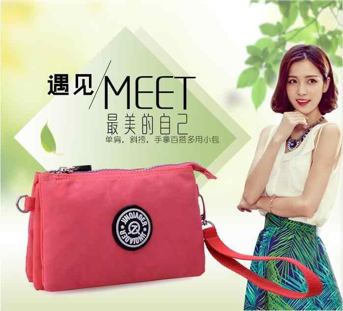 JINQIAOER 2018 gaya busana Korea gaya BARU Tahan Air nilon tas kasual tas bahu tunggal tas perempuan tas TAS MERAH