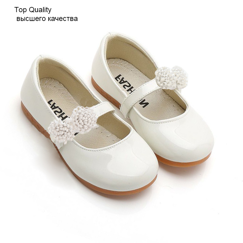 KIDS GIRLS FLAT FLORAL PARTY WEDDING SHINY PATENT SPANISH SCHOOL SHOES SIZE 8-2