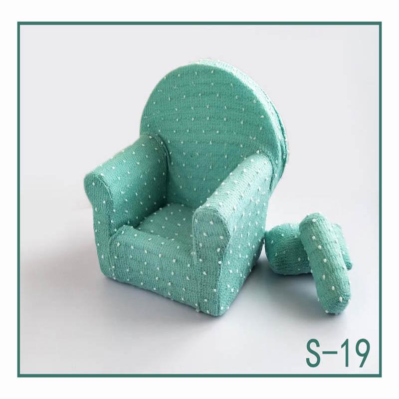 Реквизит для фотосъемки новорожденных, позирующий мини-диван, кресло на руку и 2 подушки, реквизит для фотосессии, студийные аксессуары для детей 0-3 месяцев - Цвет: 4