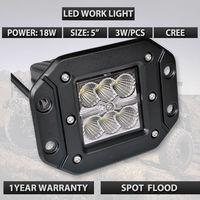 5 Inch 18 W LED İş Işık Bar Gömme Montaj Nokta Işın Offroad 4WD KAMYON 4X4 araba lambaları
