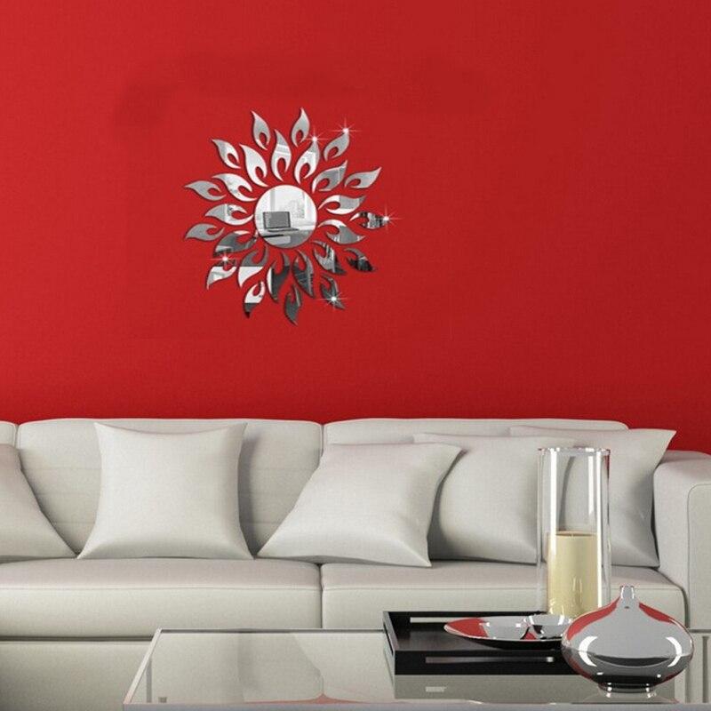 unidades cm en forma de sol espejos pegatinas de pared d etiqueta de la pared para la decoracin del hogar fresco diy casa accesorios de decoracin