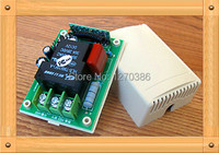 Free Shipping!!! 5pcs 220V AC high current single remote control receiver board with shell / AC power supply