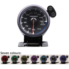 CNSPEED Shark style 12V Oil Temp Temperature Gauge Meter For Honda Auto Car With 1/8 npt Sensor 7 Colors Universal