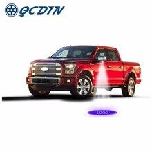 QCDIN Per FORD Luce di Marchio LED Dell'automobile Laterale del Rimorchio Pozzanghera Specchio Retrovisore Specchio di Luce Del Proiettore per Ford F150 Toro Modeo BORDO ESPLORARE