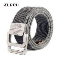 ZLRPH New Design Unisex Retro Weave Canvas Belt Women Ladies Men Male Female Casual Solid Color Belt