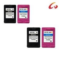 4 Pcs For HP301 HP 301 Ink Cartridge For HP 301 Xl Deskjet 1050 2050 2050s