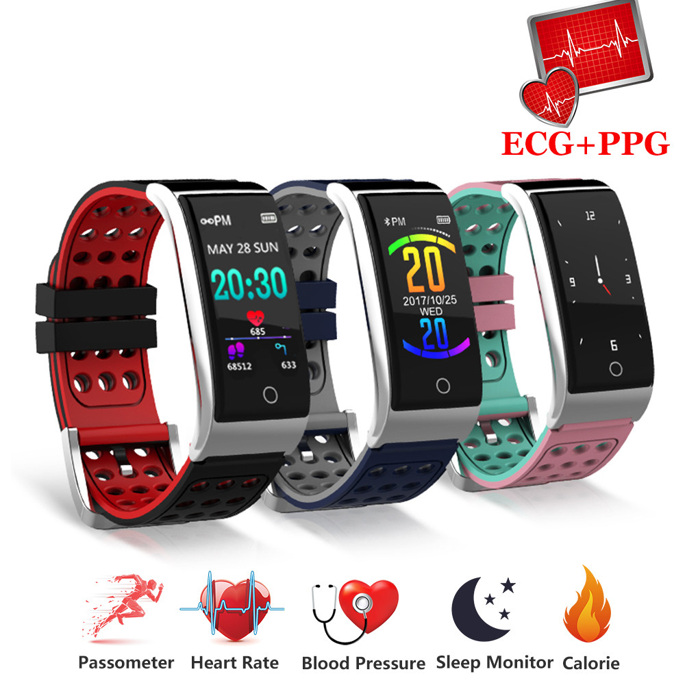 Sport Fitness Bracelet Fitness Tracker Heart Rate Monitor Blood Pressure Smart Band Ecg Ppg Smart Wristband