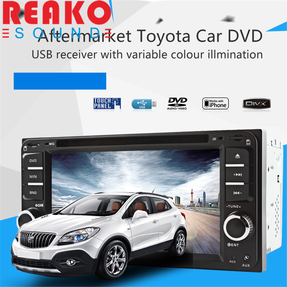 REAKOSOUND DVD Radio USB MP3 Player for Toyota Corolla Camry Kluger Hiace RAV4 Yaris Echo music interface usb sd aux in mp3 player adapter for toyota 4runner avalon avensis camry corolla verso fj crusier fortuner hiace