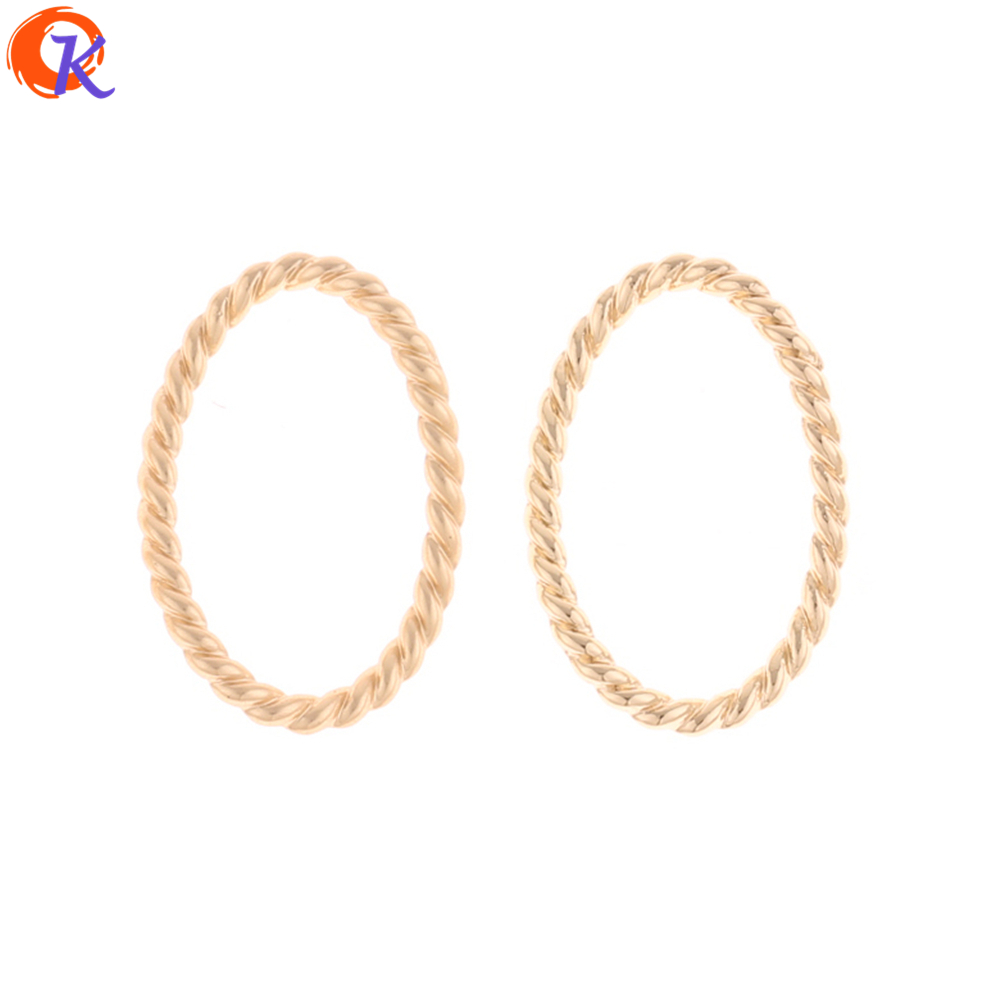 Cordial Design 100Pcs 15*22mm Jewelry Accessories/Earring Connectors/Twisty Oval Shape/Zinc Alloy/DIY/Hand Made/Earring Findings