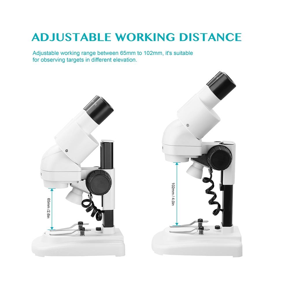 AOMEKIE 20X Lornetka Mikroskop stereoskopowy Góra LED HD Obraz PCB - Przyrządy pomiarowe - Zdjęcie 5