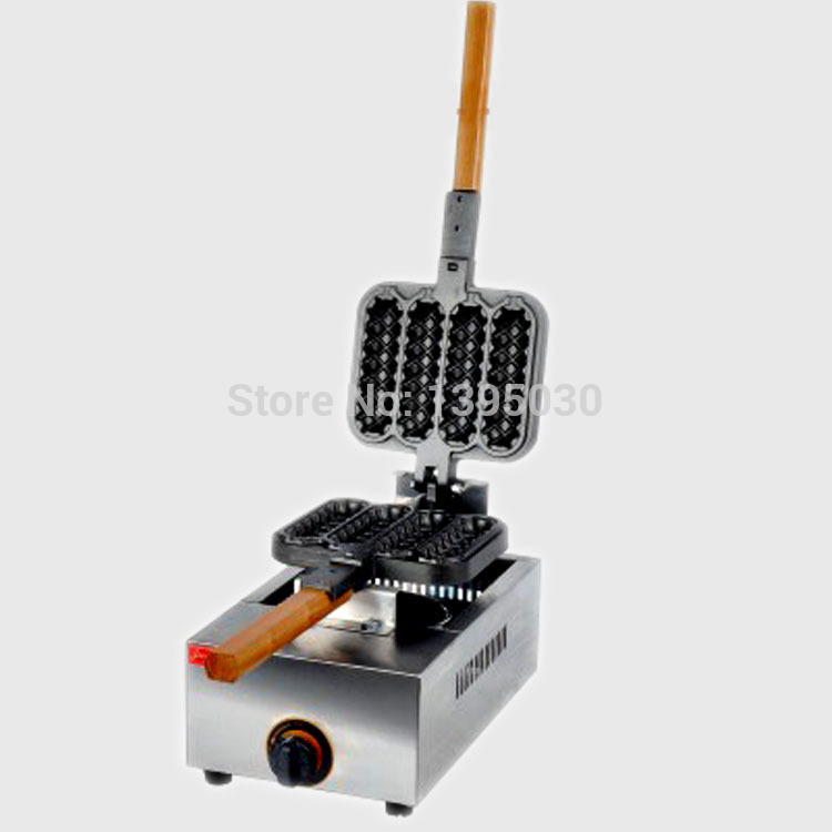 1PC FY-114R Electric Hot Dog Shape Waffle Maker Cake Maker Snack Baking Machine Gas Crisp Machine kw 7a stainless steel french hot dog waffle machine corn crisp maker for snack equipment