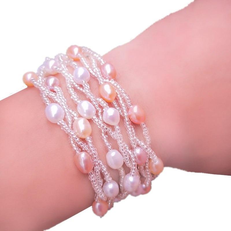 Name Brand Bracelets: High Quality Brand Name Genuine 100% Real Natural Pearl