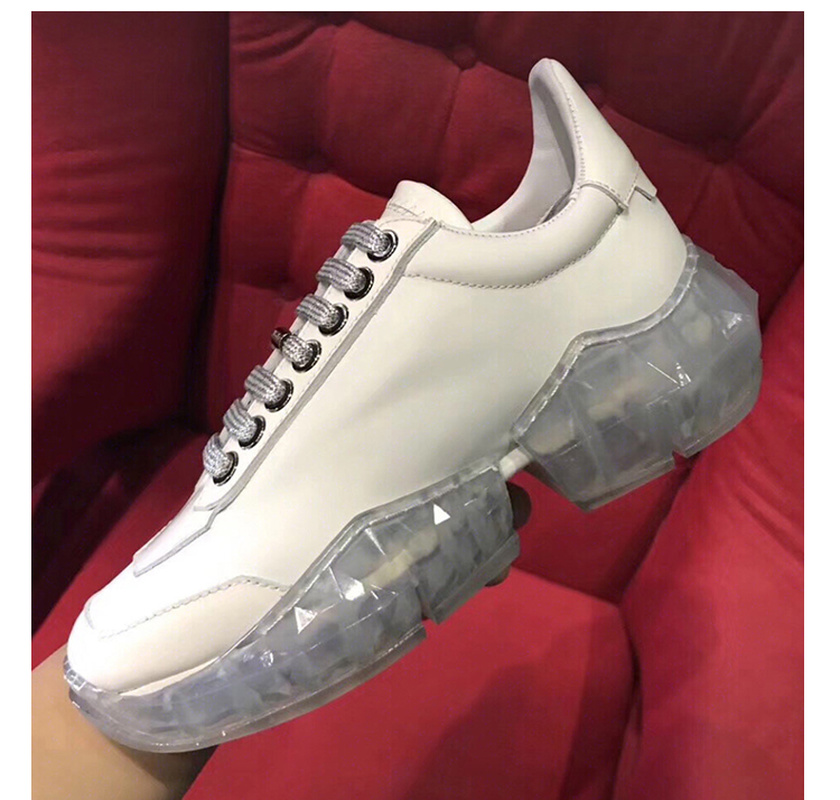 Silver Chic Mode Up Transparent Chaussures Dentelle Femme white Strass Pour Sneakers rhinestone Cristal White 2019 Fond Casual Plein Propriétaire Style De vw6PgOqyzT
