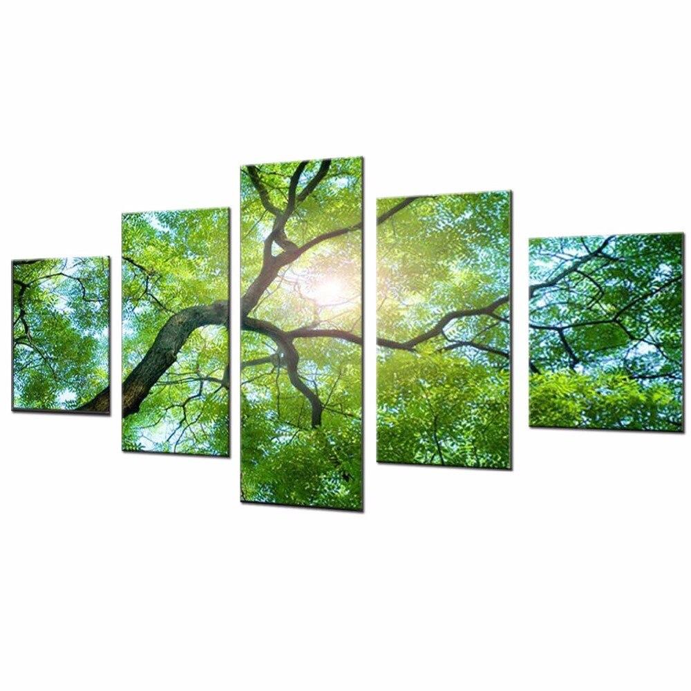 5 панельдер Қазіргі заманғы кенеп - Үйдің декоры - фото 2
