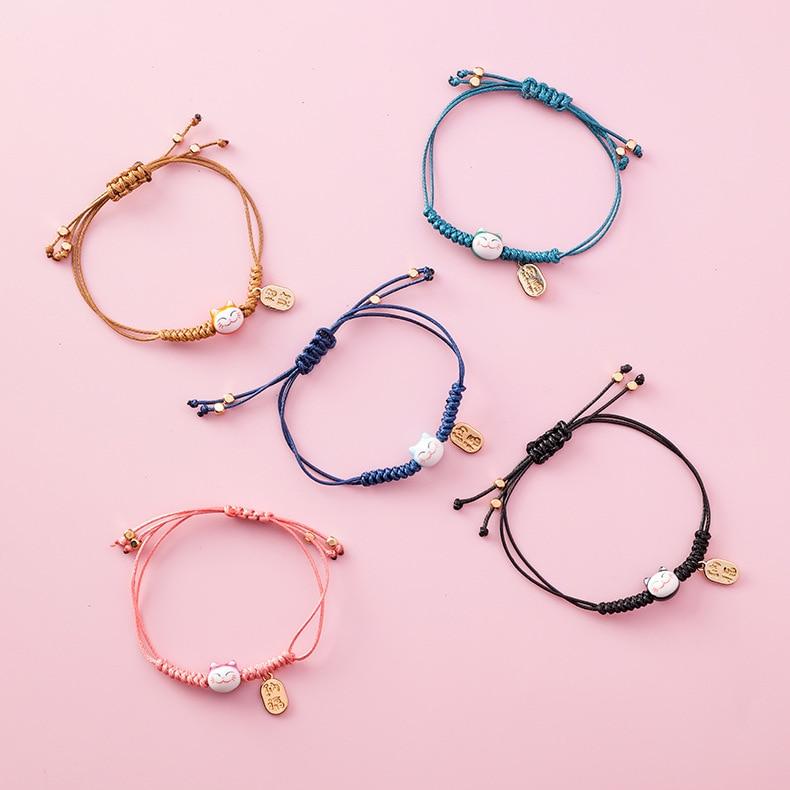 handmade lucky cat fashion bracelet gift chain 5