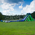 Huge PVC Commercial Outdoor Water Slide Beach Inflatable Water Slide For Recreation