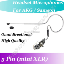 MICWL XLR 3-Pin mini Black Wireless ear hook Headset Microphone for AKG Samson Gemini Wireless Beltpack Mic Transmitter micwl me2 pro microfone lavalier para lapel microphone for akg samson gemini wireless xlr mini 3 pin