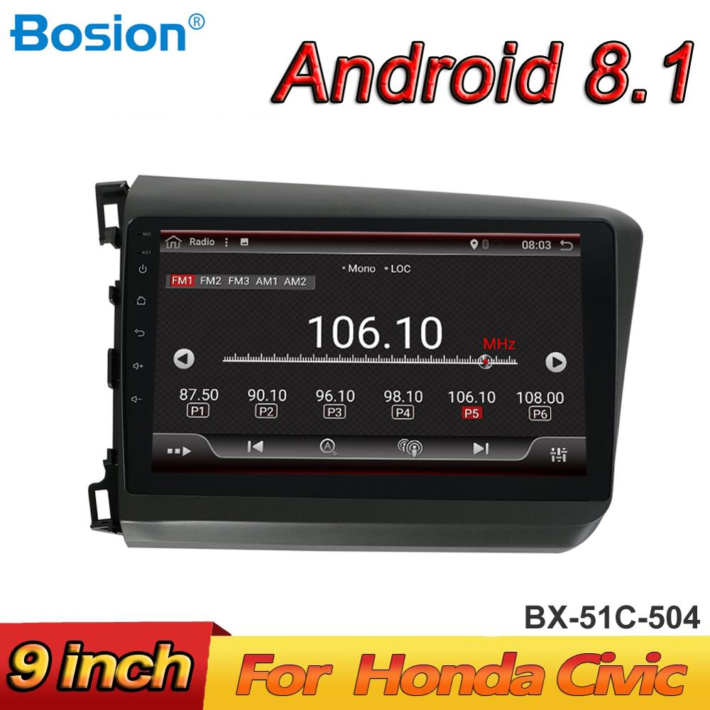 audio radio car gps player for Honda Civic head unit android 8 1 2 din 1G