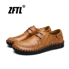 ZFTL New Men Casual Business shoes Male formal leather cow big size man lace-up spring/autumn 2019 for men  078