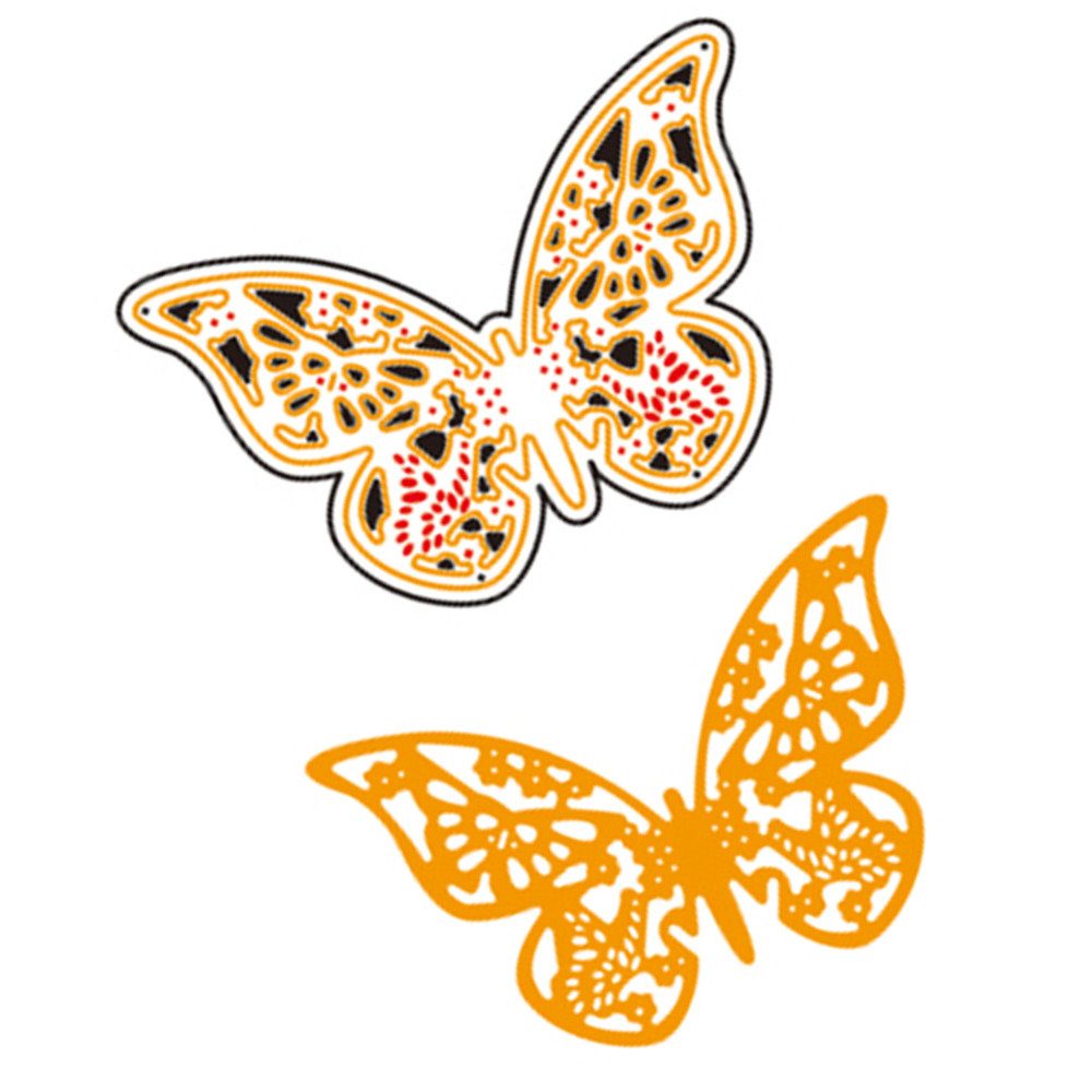 63x41mm Cute Cover Butterfly Metal Cutting Dies Stencil for DIY ...