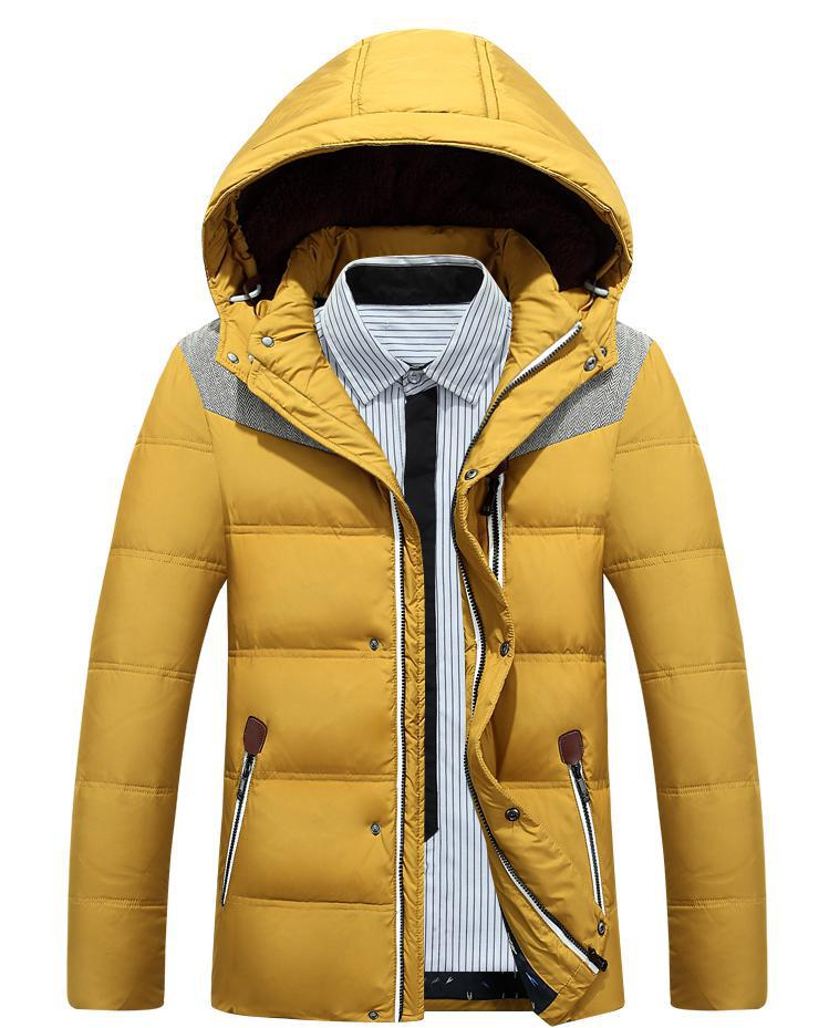 Men Lining Down Jacket High Quality Brand Clothing Casual Winter Jacket Men Nagymaros Collar Zippers Duck Down Jacket Men