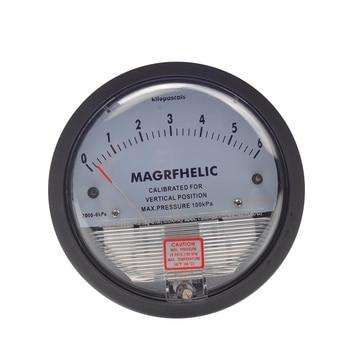 "0-6KPA Micro Differential Pressure Gauge High Precision 1/8 ""NPT Round Type Pointer Instrument Micromanometer TE2000"