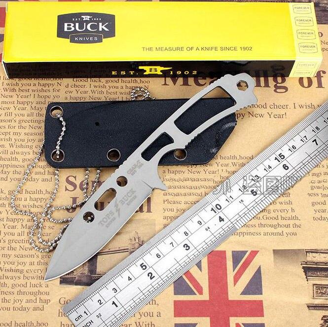ONEPIECE Survival font b Knife b font BUCK Fixed 420 Blade font b Knife b font