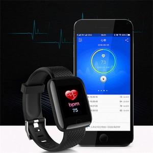 Image 4 - موضة الرياضة ساعة ذكية الرجال النساء ل أندرويد IOS Smartwatch جهاز تعقب للياقة البدنية مقاوم للماء ساعة ذكية Smartwach جديد ساعة اليد