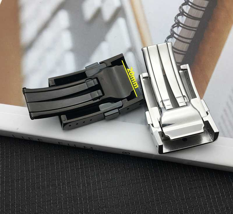 New 316L Thick Stainess Steel Buckle for Breitling Watchband 20mm Polishing Double butterfly Click Clasp mens Watch strap tools