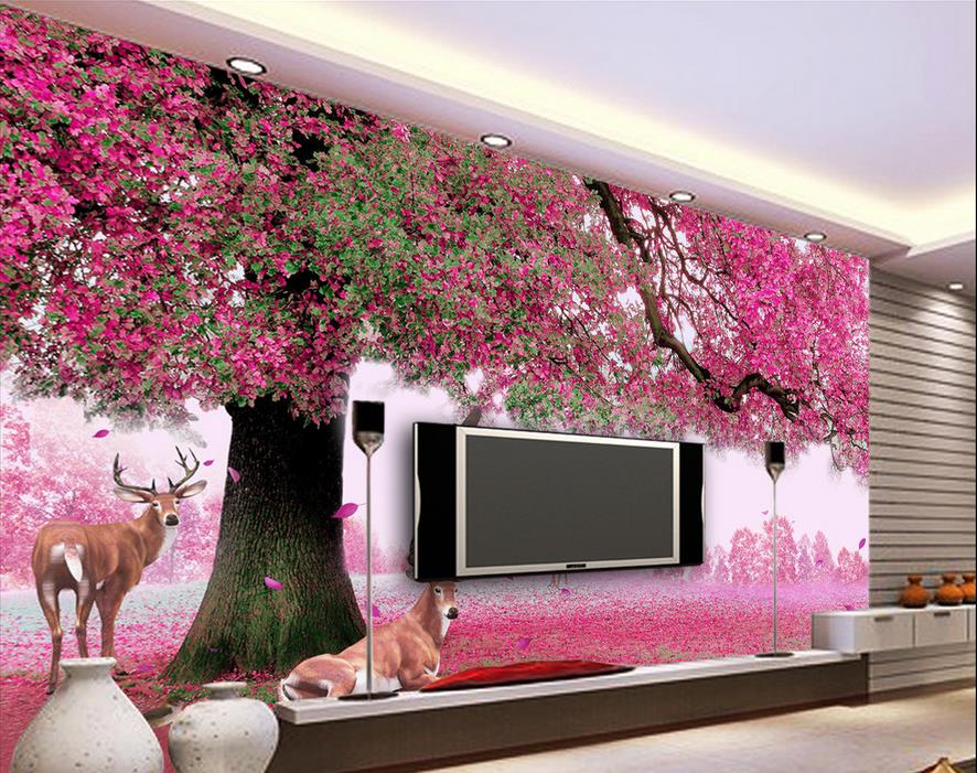 Online get cheap red wallpaper designs for 3d wall designs bedroom