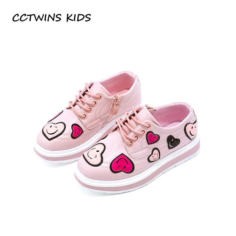 CCTWINS KIDS 2018 Spring Children White Pu Leathe Shoe Kid Brand Lover platform Baby Girl Pink Fashion slip-on Toddler G1657 adidas performance natweb i slip on shoe toddler