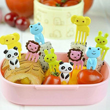 10Pcs Cute Mini Animal Farm Cartoon Food Picks Children Snack Cake Dessert Food Fruit Forks Lunch Bento Accessories Party Decor