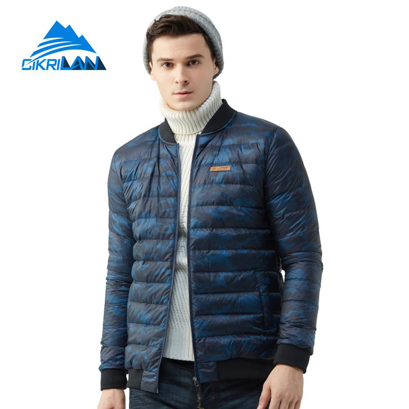 Mens Winter Lightweight Windbreaker Down Parka Coat Outdoor Sport Climbing Hiking Camping Puffer Down Jacket Men Trekking Coats