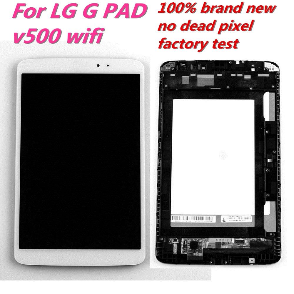 LCD Para LG G Pad 8.3 V500 STARDE Wifi 3G Versão Display LCD Touch Screen Digitador Assembléia com Frame