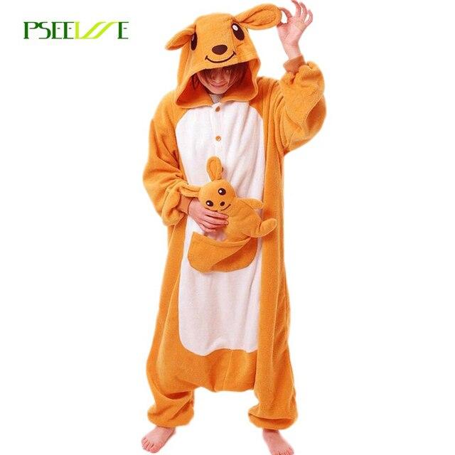 3bb8b0c4228b Winter Adult Onesie Pajamas Anime Costume Kangaroo Sleepwear Animal Pajamas  Women pajamas Men Onesie Polar Fleece Sleepwear