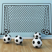 Football Network Wall Sticker For Kids Home Decor Soccer Wall Decal Vinyl Art Home Decoration