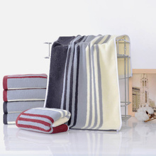 33*73cm High Quality Cotton Soft Hand Face Towel Rectangle Absorben Fashion Stripe Print Blue Red Color Wholesale