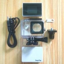 Acessórios da câmera de esportes tela externo bateria lcd display cristal líquido + à prova dwaterproof água caso conjunto para xiaomi yi original