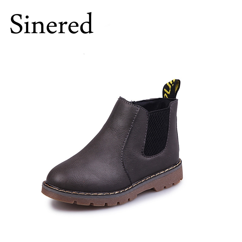 Sinered-2017-autumn-winter-new-childrens-fashion-boots-boy-girls-non-slip-boots-British-boots-kids-retro-Martin-boots-1