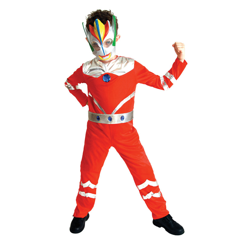 Umorden Purim Carnival Halloween Costumes Children Kids Ultraman Costume Boys Fantasia Disfraces Cosplay Jumpsuit with Mask