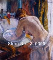 Peinture à l'huile reproduction sur toile de lin, la toilette by edgar degas, livraison dhl expédition rapide, 100% fait main