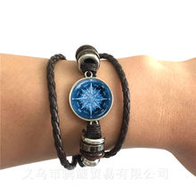 Nautical Compass Bracelet Fashion Vintage Black/Brown Leather Bangle For Boyfriend Gift Keepsake Gifts Accessories Jewelry(China)