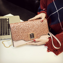 IMYOK 2018 New Women Handbags Ladies Sequins Day Clutches Bags Women Metal Chain Shoulder Bags Cross Body Bags Female Bolsas C15