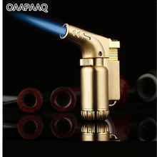 Compact Butane Jet Lighter Torch Lighter Gasoline Fixed Fire Cigarette Gas Gun Lighter Windproof Metal Petrol lighters NO GAS